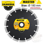 DIAMOND BLADE 180MM X 22.23 SEGMENTED IND MULTI PURPOSE MASTER MST - Power Tool Traders