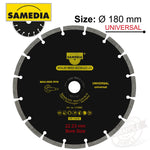 DIAMOND BLADE 180MM X 22.23 SEGMENTED IND MULTI PURPOSE SOLID MSS - Power Tool Traders