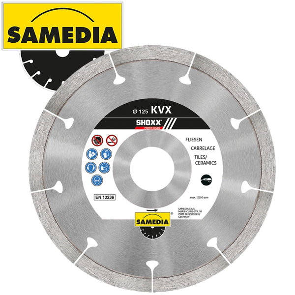 DIAMOND BLADE 115MM SEGMENTED IND GRANITE & PORCELAIN SHOXX KVX - Power Tool Traders