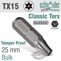 TORX TAMPER RESIST.T15H X 25MM - Power Tool Traders