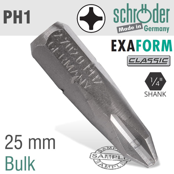 PH1 EXAFORM CLASSIC INSERT BIT 25MM BULK - Power Tool Traders