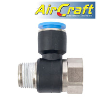 PU HOSE FITTING TEE 10MM X 3/8'F X 3/8'M - Power Tool Traders