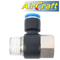 PU HOSE FITTING TEE 10MM X 1/2'F X 1/2'M - Power Tool Traders
