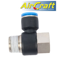 PU HOSE FITTING TEE 12MM X 1/2'F X 1/2'M - Power Tool Traders