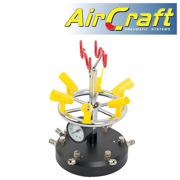 AIR BRUSH STAND (6) 6 PORTS & PRESSURE GUAGE - Power Tool Traders