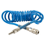 SPIRAL POLYP HOSE 4M X 12MM WITH QUICK COUPLERS - Power Tool Traders