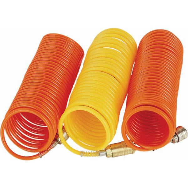 SPIRAL POLYP HOSE 8M X 8MM WITH QUICK COUPLERS - Power Tool Traders