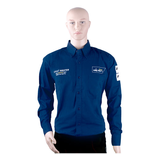 ALPEN SPRINT MASTER MENS NAVY BLUE COTTON SHIRT  LARGE - Power Tool Traders