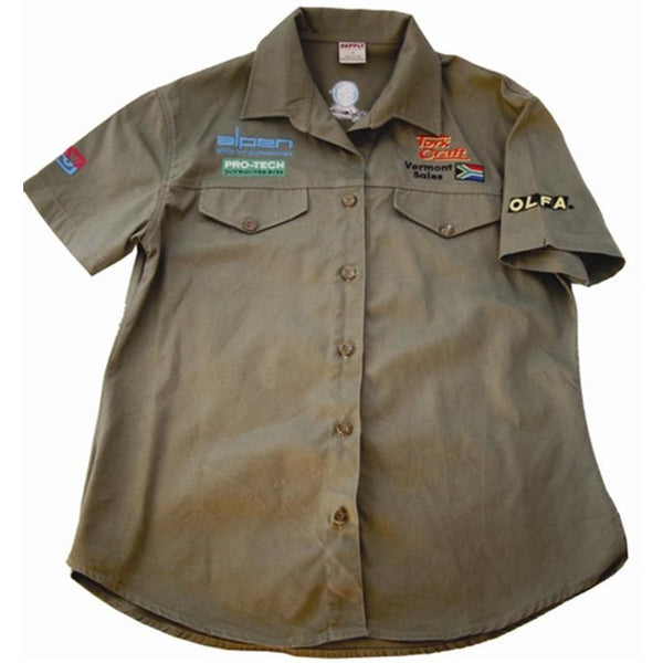 LADIES BLOUSE - OLIVE - LARGE - Power Tool Traders