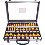 ROUTER BIT SET 35PC ALUM.CASE GLASS 1/4' - Power Tool Traders