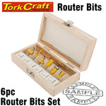 ROUTER BIT SET 6PCE WOODEN BOX - Power Tool Traders