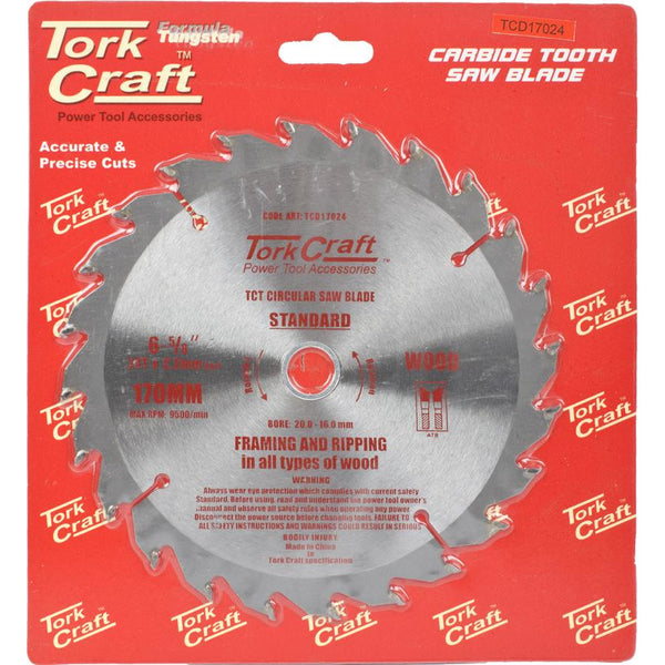 BLADE TCT 170 X 24T 20/16 GENERAL PURPOSE RIP - Power Tool Traders