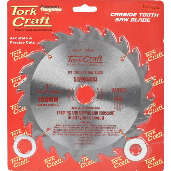 BLADE TCT 180 X 24T 30/20/16 GENERAL PURPOSE RIP - Power Tool Traders