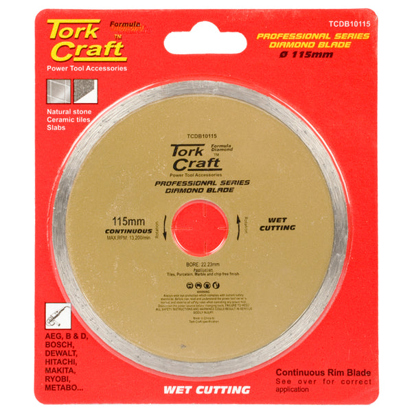 DIAMOND BLADE 115MM CONT.RIM PROFESIONAL - Power Tool Traders