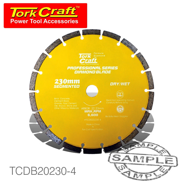 DIAMOND BLADE 10MM SEG FOR CUTTING BUILDING MATERIALS 230MM 22.23 - Power Tool Traders