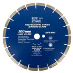 DIAMOND BLADE 300 x 25.4MM GREEN / NEW CONCRETE LASER WELDED SEGMENTED - Power Tool Traders