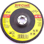 FLAP DISC 180MM 15 DEG.ANGLE 40GRIT - Power Tool Traders
