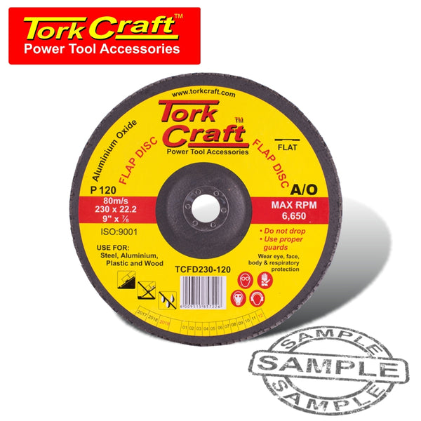 FLAP SANDING DISC 230MM 120GRIT - Power Tool Traders