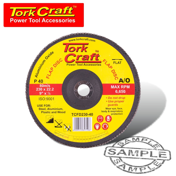 FLAP SANDING DISC 230MM 40GRIT - Power Tool Traders