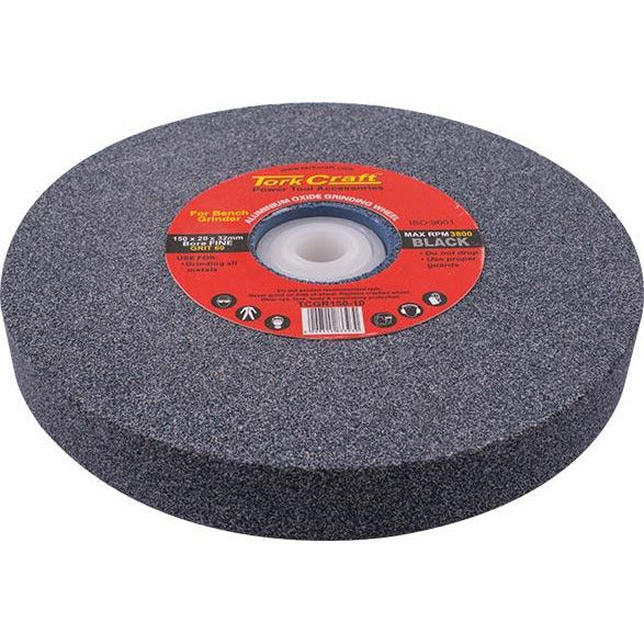 GRINDING WHEEL 150X20X32MM BORE 60GR W/BUSHES FOR B/G BLACK - Power Tool Traders