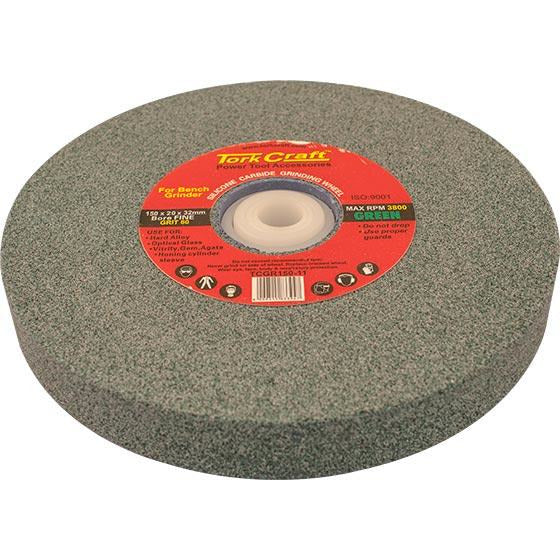 GRINDING WHEEL 150X20X32MM BORE 60GR W/BUSHES FOR B/G GREEN - Power Tool Traders