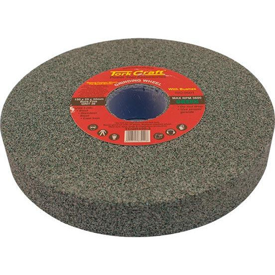 GRINDING WHEEL 150X25X32MM BORE COARSE 36GR W/BUSHES FOR B/G GREEN - Power Tool Traders
