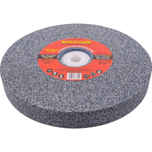 GRINDING WHEEL 150X20X32MM BLACK COARSE 36GR W/BUSHES FOR BENCH GRIN - Power Tool Traders