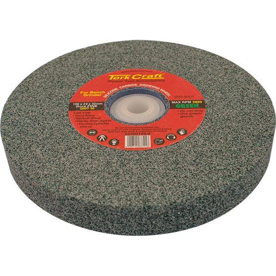 GRINDING WHEEL 150X20X32MM GREEN COARSE 36GR W/BUSHES FOR BENCH GRIN - Power Tool Traders