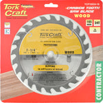 BLADE CONTRACTOR 185 X 24T 16mm CIRCULAR SAW TCT - Power Tool Traders