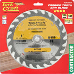 BLADE CONTRACTOR 200 X 24T 30/1/20/16 CIRCULAR SAW TCT - Power Tool Traders