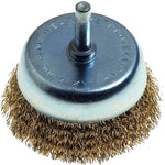 WIRE CUP BRUSH 75MM X 6MM SHAFT BLISTER - Power Tool Traders