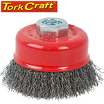 WIRE CUP BRUSH CRIMPED PLAIN 100MMXM14 BULK - Power Tool Traders