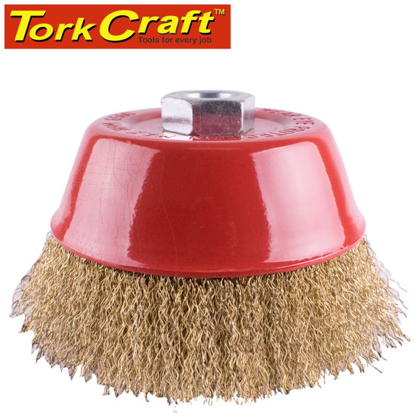 WIRE CUP BRUSH CRIMPED 125MMXM14 BULK - Power Tool Traders