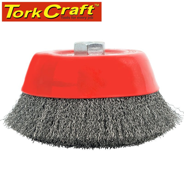 WIRE CUP BRUSH CRIMPED PLAIN 150MMXM14 BULK - Power Tool Traders