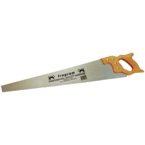 HANDSAW WOODEN HANDLE 600MM x  8tpi * - Power Tool Traders