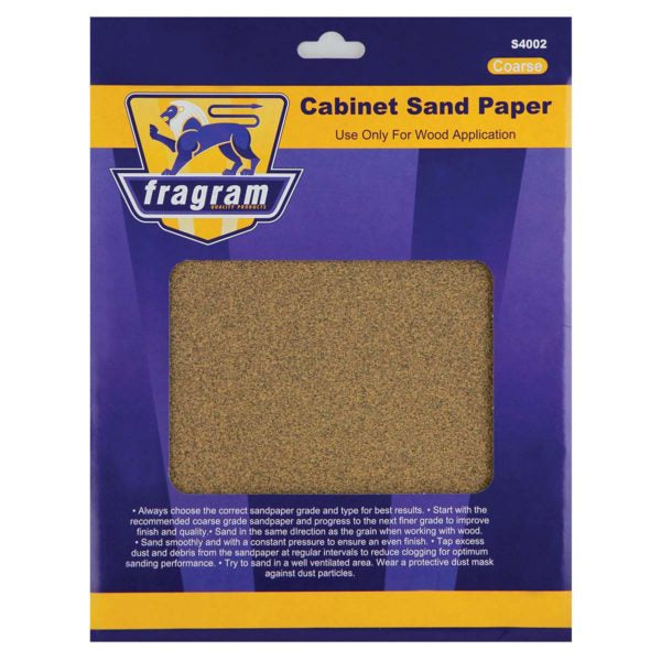 SAND PAPER CAB/ COARS 60GRT 4P - Power Tool Traders