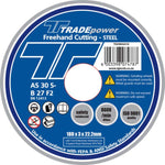 DISC CUTTING STEEL 180MM T/P - Power Tool Traders