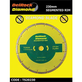 DIAMOND BLADE 230MM SEGMENTED DELROCK - Power Tool Traders