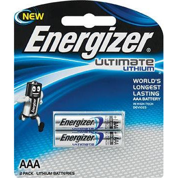 ENERGIZER ULTIMATE LITHIUM:  AAA - 2 PACK (MOQ6) - Power Tool Traders