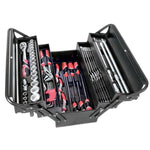 TOOL BOX C/LEVER W/TOOLS 64PC - Power Tool Traders
