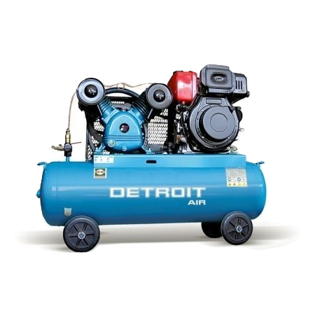 PETROL ENGINE AIR COMPRESSOR 6.5HP 120L 12.5BAR 300LPM/10.6CFM - Power Tool Traders