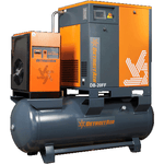 G2DB-15FF DETROIT AIR SCREW COMPRESSOR FULL FEATURE 15HP 64CFM ON 500L PRESSURE VESSEL INCLUDING DRYER