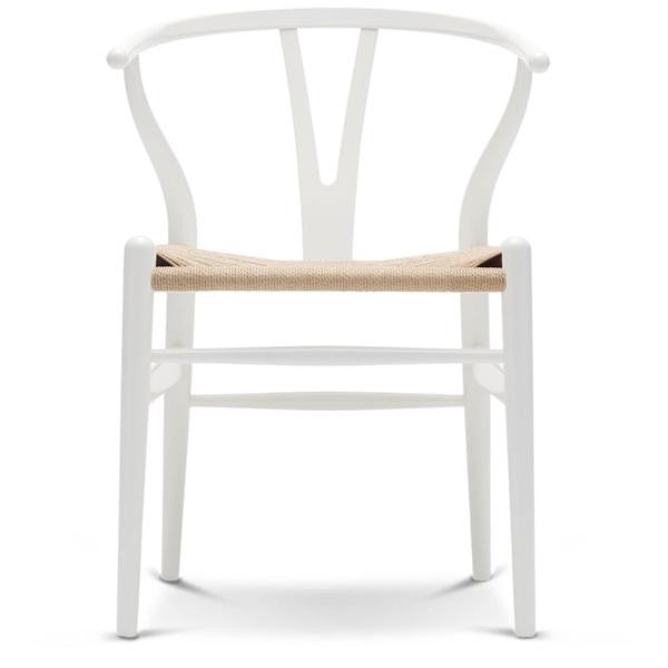 Wishbone Dining Chair | White/Natural | FLOOR STOCK