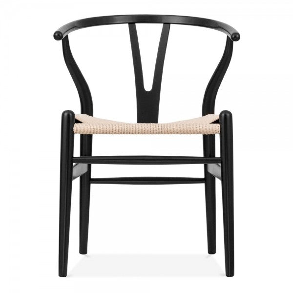 Wishbone Dining Chair | Black/Natural | FLOOR STOCK