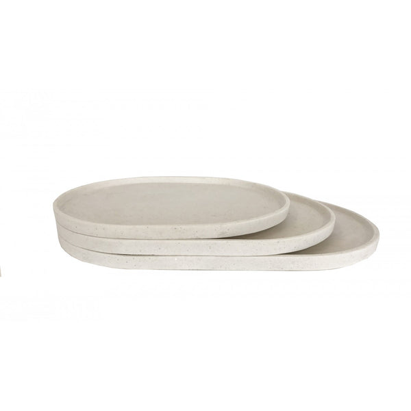 Esher Oval Platter Set | Chalk
