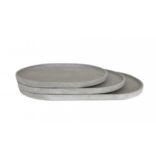 Esher Oval Platter Set | Light Grey
