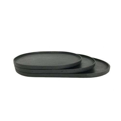 Esher Oval Platter Set | Black