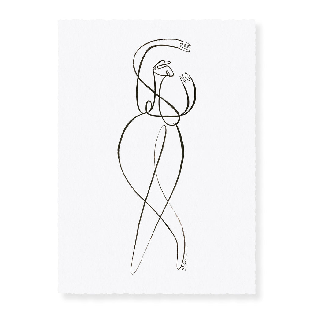 Ballerina | Original Ink Artwork on Paper | Angus Martin