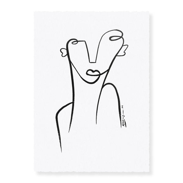 Her | Original Ink Artwork on Paper | Angus Martin