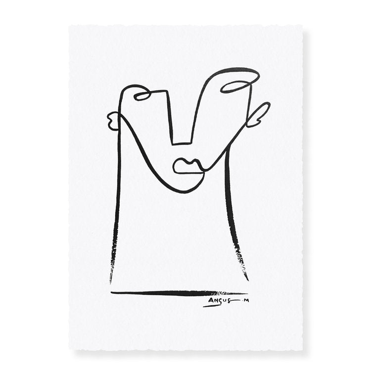 'Him' | Original Ink Artwork on Paper | Angus Martin
